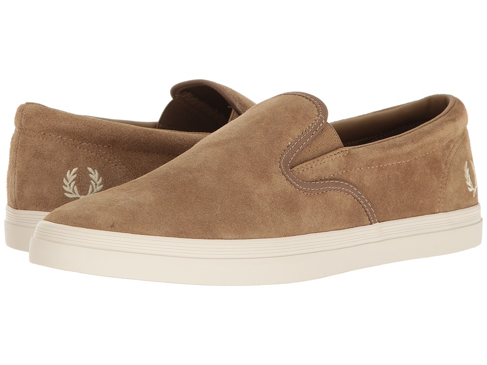Fred Perry Underspin Slip-On Suede (Almond) Men