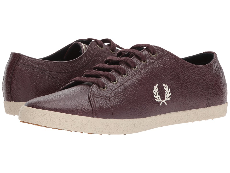 Fred Perry Kingston Scotchgrain Leather (Oxblood/Natural) Men