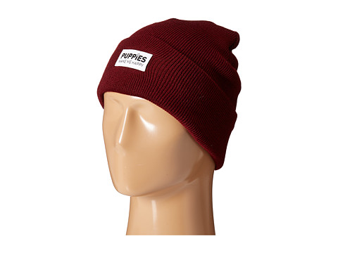 Puppies Make Me Happy Puppies Beanie - Maroon