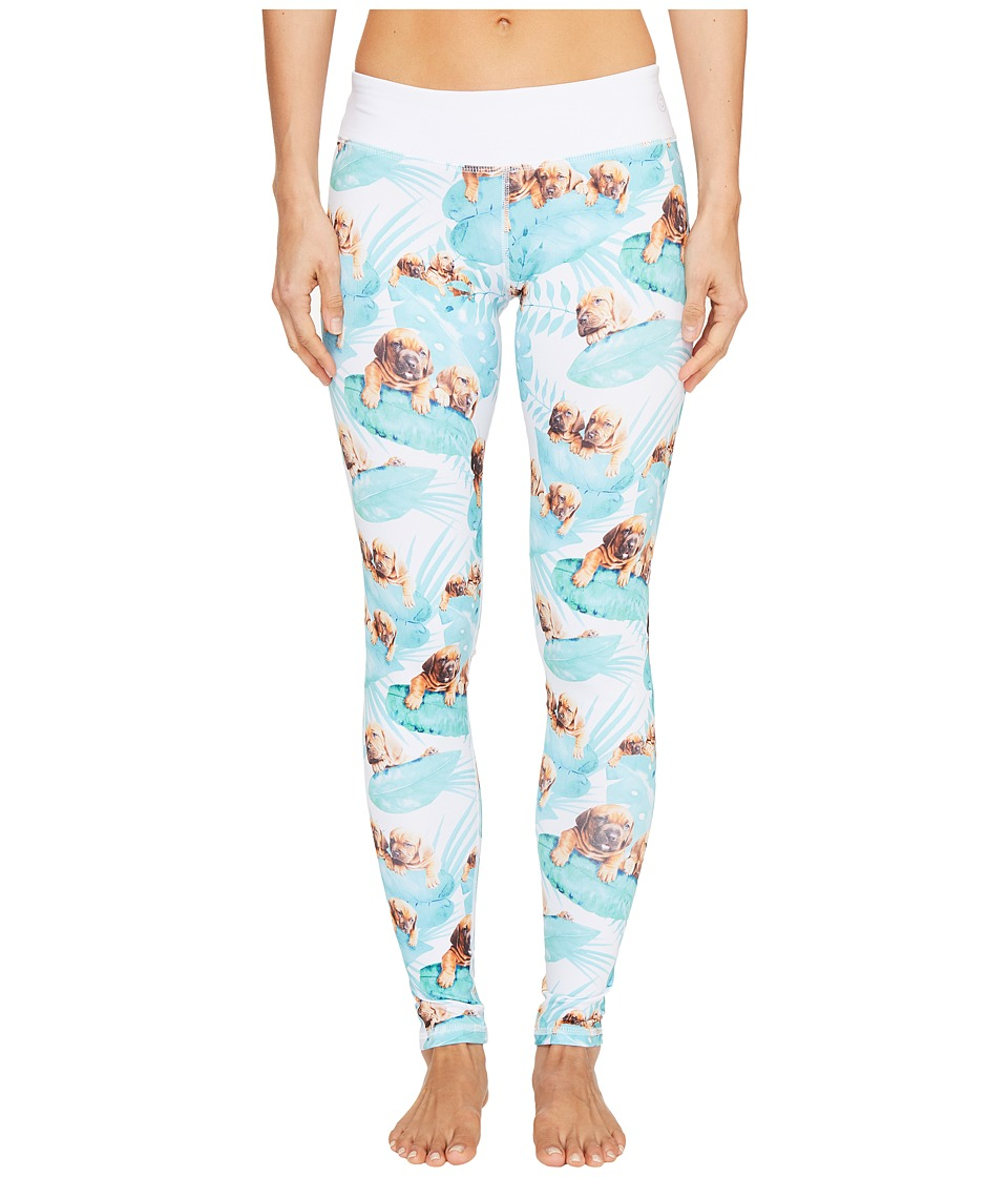 Puppies Make Me Happy - Fern Puppies Leggings (Multi) Womens Casual Pants