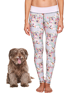 Puppies Make Me Happy - Pawesome Blossom Leggings