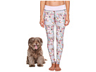 Puppies Make Me Happy Pawesome Blossom Leggings