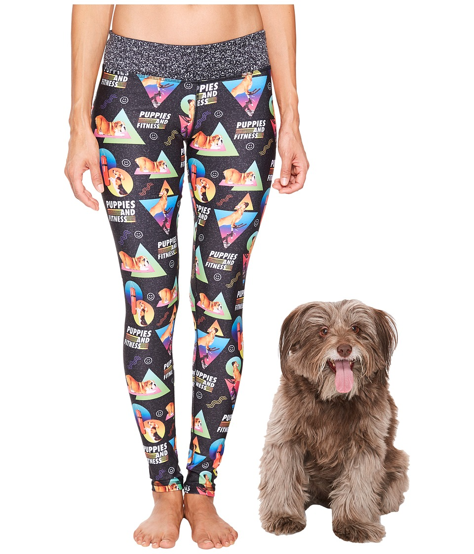 Puppies Make Me Happy - Puppies Fitness Leggings (Multi) Womens Casual Pants