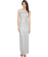 Tahari by ASL - Horseshoe Neck Lace Gown