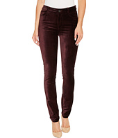 Paige - Hoxton Velvet Skinny in Black Cherry