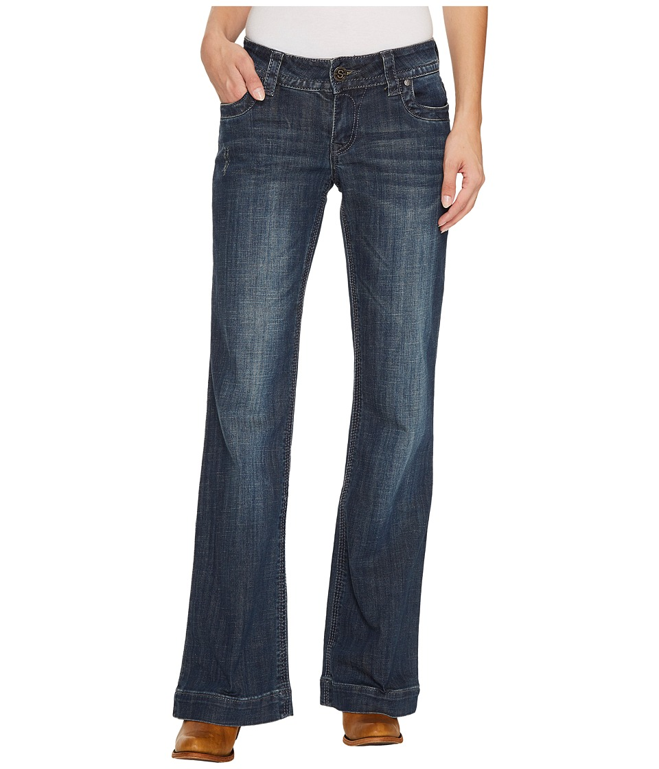 Stetson Plain Back Pocket w/ Blue Embroidery Detail (Blue) Women
