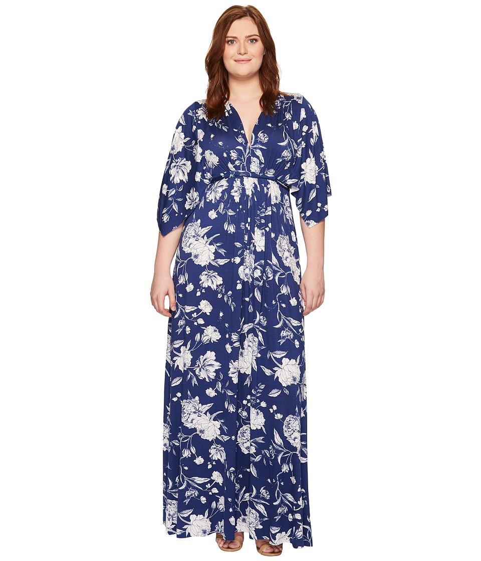 Rachel Pally Plus Size Long Caftan Dress (Seaside Peony) Women
