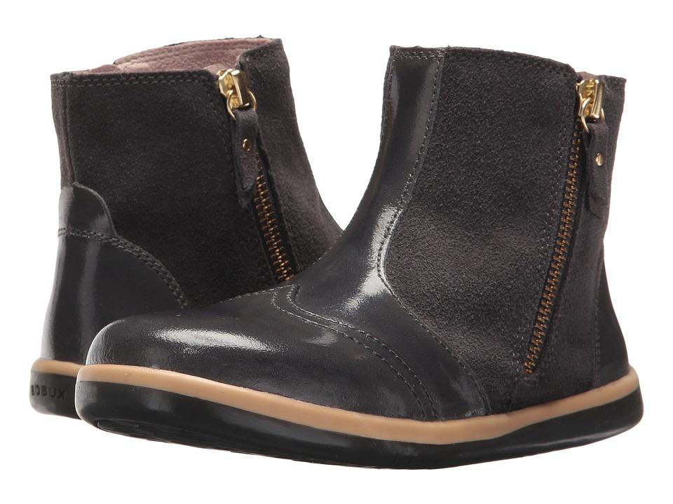Bobux Kids - Kid+ Classic Shimmer (Toddler/Little Kid) (Charcoal) Girls Shoes