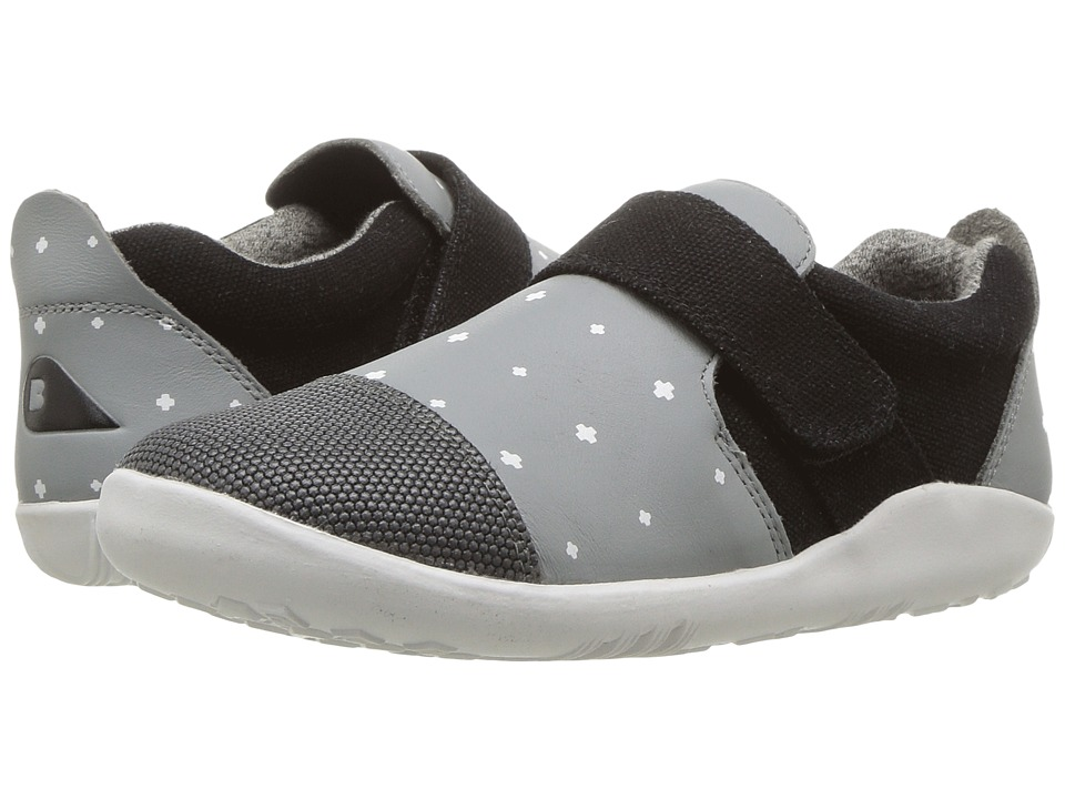 Bobux Kids Kid+ Play Aktiv Plus (Toddler/Little Kid) (Smoke/White Plus) Boy's Shoes