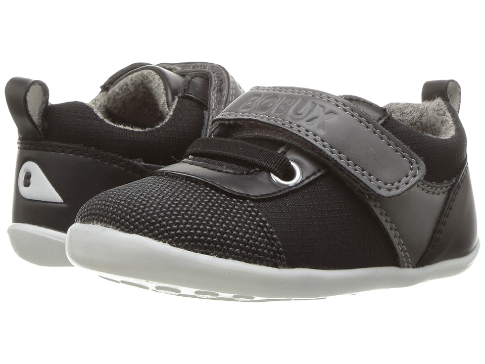 Bobux Kids Step Up Street Edge (Infant/Toddler) (Black/Gray) Boy's Shoes