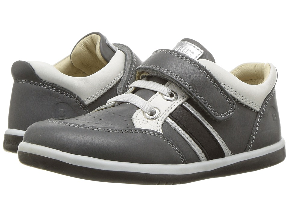 Bobux Kids I-Walk Classic Racer (Toddler) (Charcoal) Boy's Shoes