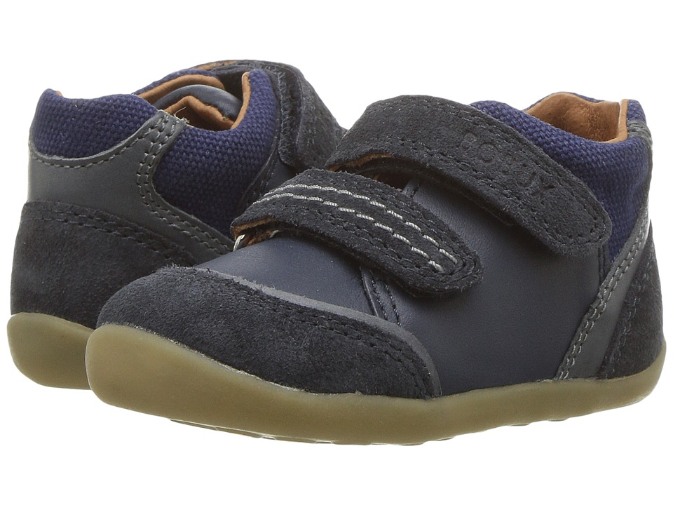 Bobux Kids Step Up Classic Tumble (Infant/Toddler) (Navy) Boy's Shoes