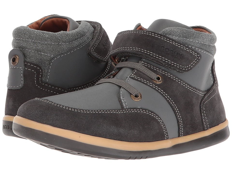 Bobux Kids Kid+ Classic Stomp (Toddler/Little Kid) (Charcoal) Boy's Shoes