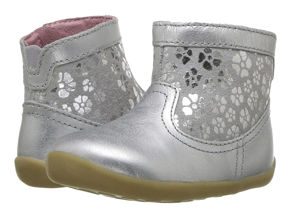 Bobux Kids Step Up Classic Gaze (Infant/Toddler) (Silver) Girl's Shoes