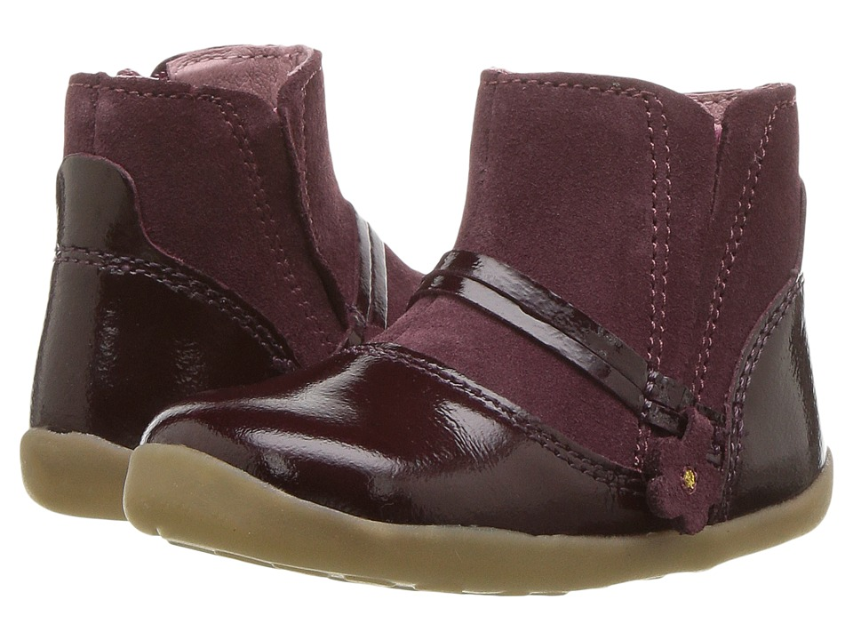 Bobux Kids Step UP Classic Rule (Infant/Toddler) (Bordeaux) Girl's Shoes