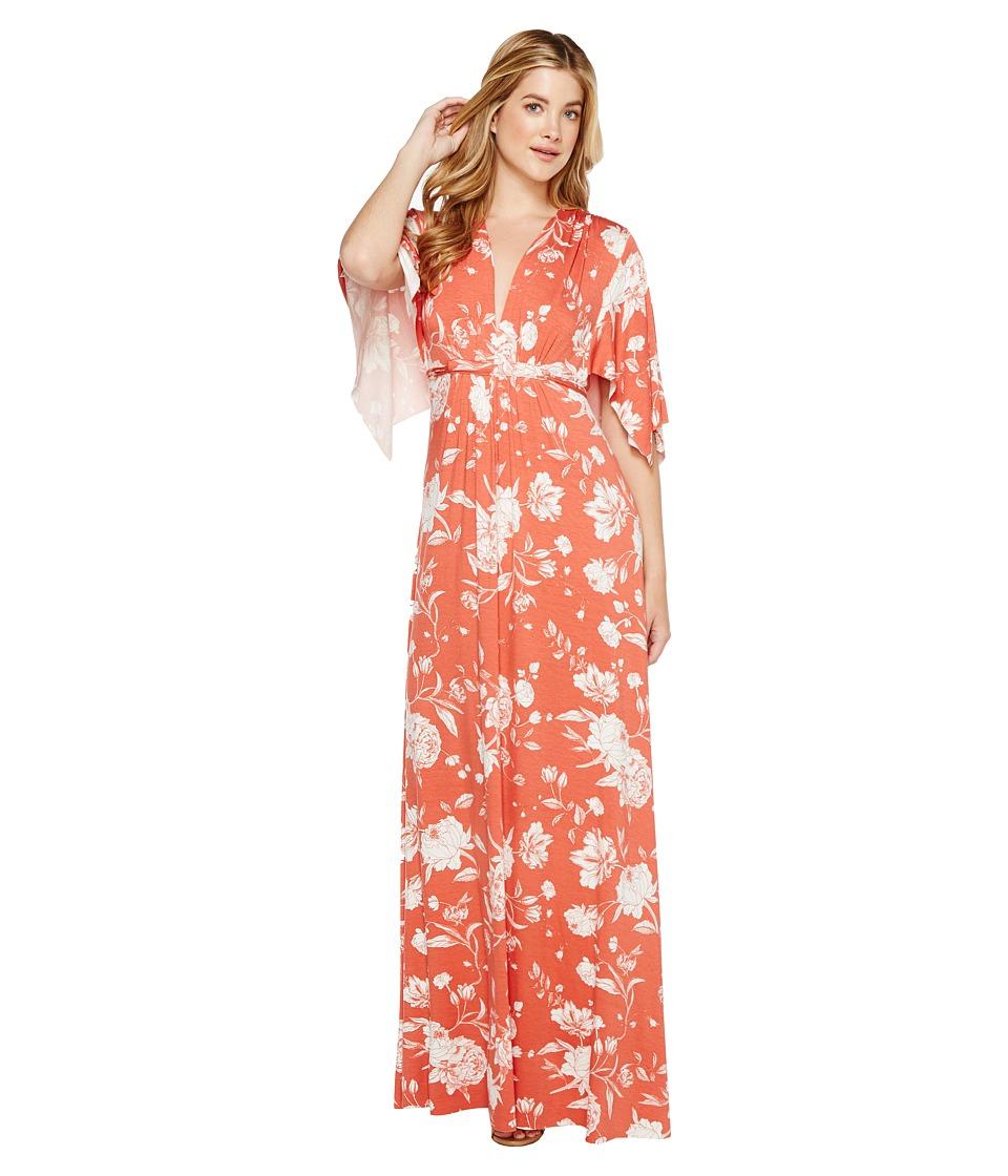 Rachel Pally Long Caftan Dress (Chipotle Peony) Women
