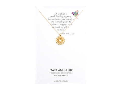 Dogeared Maya Angelou: A Woman Is Careful with Judgment Necklace - Gold Dipped