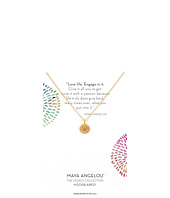 - Maya Angelou: Love Life, Engage In It Necklace  Gold