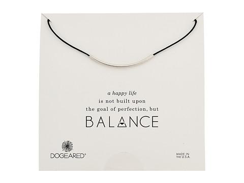 Dogeared Balance Adjustable Cord Necklace - Black/Sterling Silver