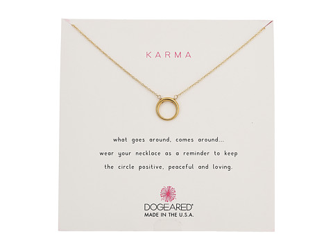 Dogeared Karma Smooth Retro Ring Necklace - Gold Dipped