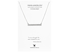Dogeared Maya Angelou: Live As Though Life: ID Bar Necklace
