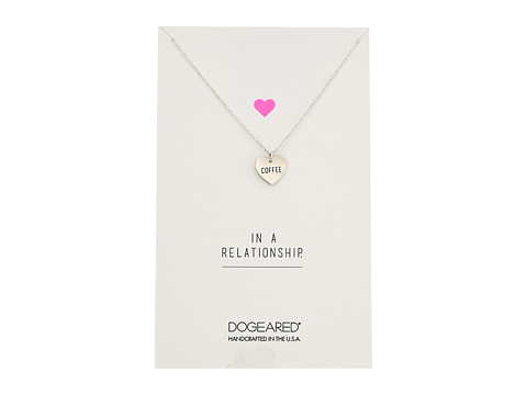 Dogeared Always Love Wins Heart, Conversation Heart Necklace - Sterling Silver