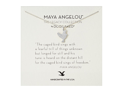 Dogeared Maya Angelou: The Caged Bird Sings Necklace - Sterling Silver