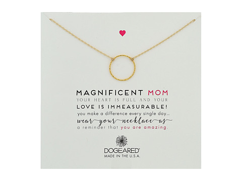 Dogeared Magnificent Mom, Little Sparkle Karma Necklace - Gold Dipped