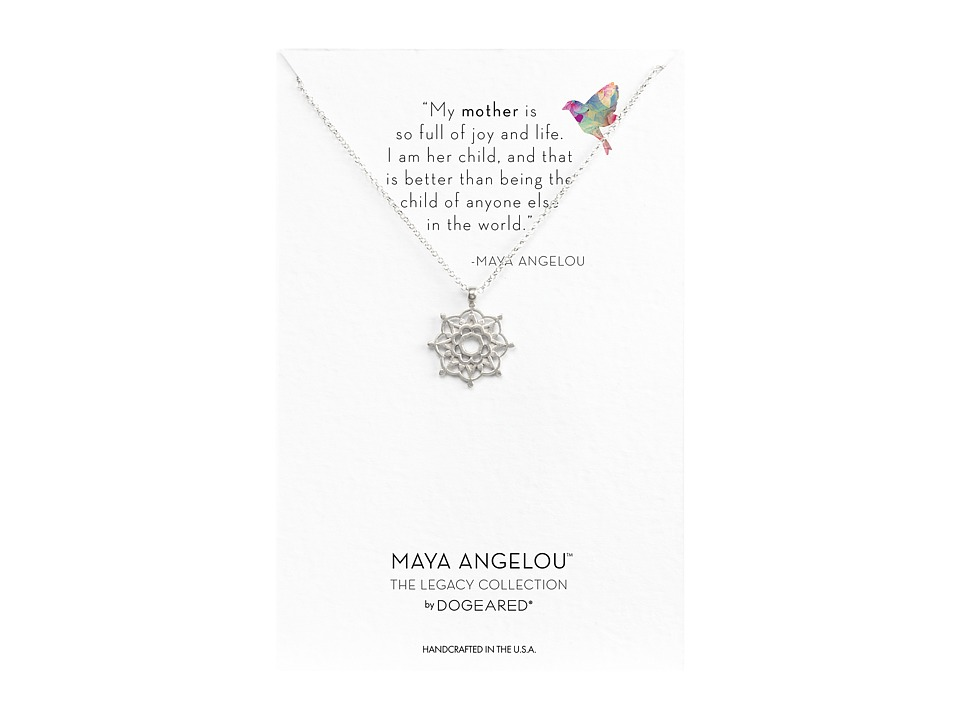 Dogeared Maya Angelou: Mom Me Necklace (Sterling Silver) ...