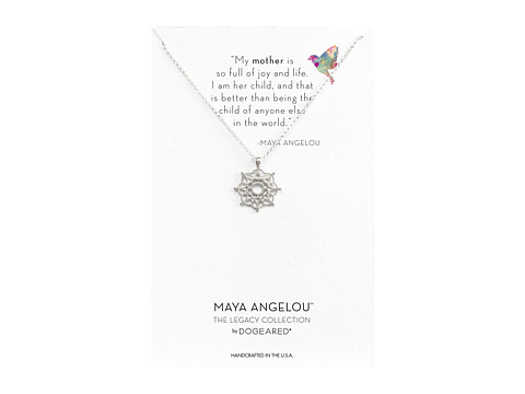 Dogeared Maya Angelou: Mom & Me Necklace - Sterling Silver