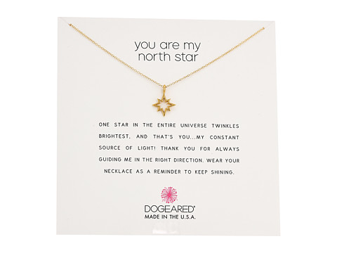 Dogeared You Are My North Star, Open North Star Necklace - Gold Dipped