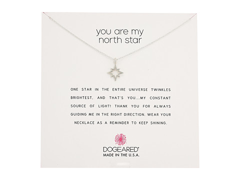 Dogeared You Are My North Star, Open North Star Necklace - Sterling Silver