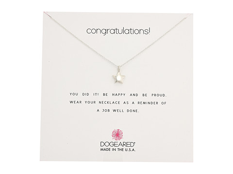 Dogeared Congratulations, Full Star Necklace - Sterling Silver