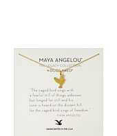 - Maya Angelou: The Caged Bird Sings Necklace  Gold
