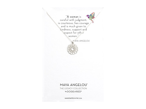 Dogeared Maya Angelou: A Woman Is Careful with Judgment Necklace - Sterling Silver