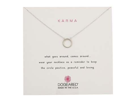 Dogeared Karma Smooth Retro Ring Necklace - Sterling Silver