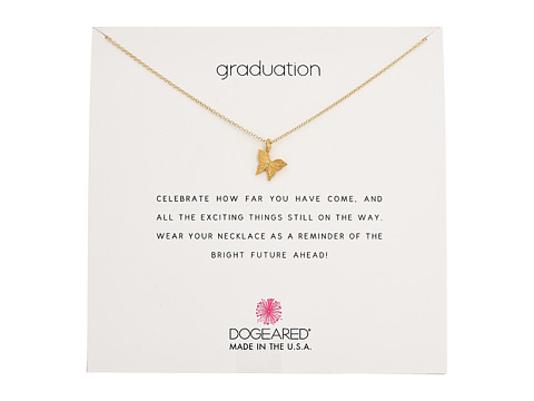 Dogeared Graduation, Graceful Butterfly Necklace - Gold Dipped