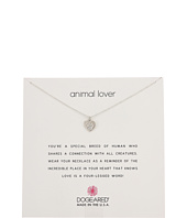 Animal Lover, Heart with Paw Necklace  Silver