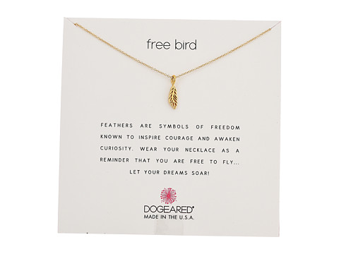 Dogeared Free Bird, Open Feather Necklace - Gold Dipped