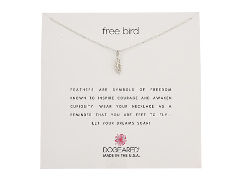 Dogeared Free Bird, Open Feather Necklace - Sterling Silver