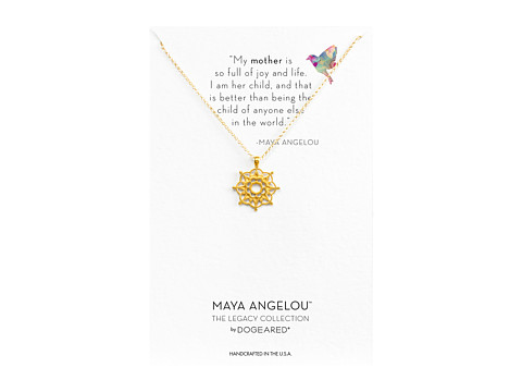 Dogeared Maya Angelou: Mom & Me Necklace - Gold Dipped