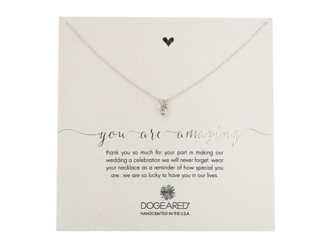 Dogeared You Are Amazing, Pearl, Crystal Bezel and Bead Cluster Necklace - Sterling Silver