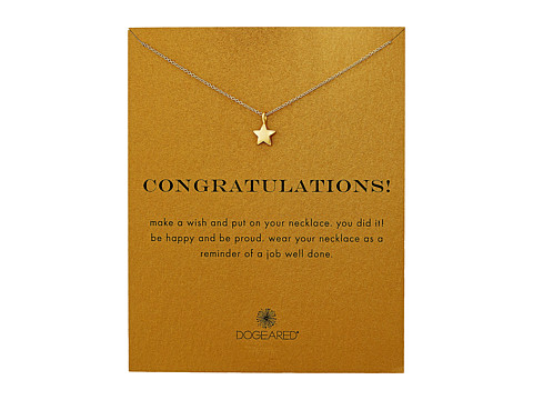 Dogeared Congratulations, Full Star Necklace - Gold Dipped