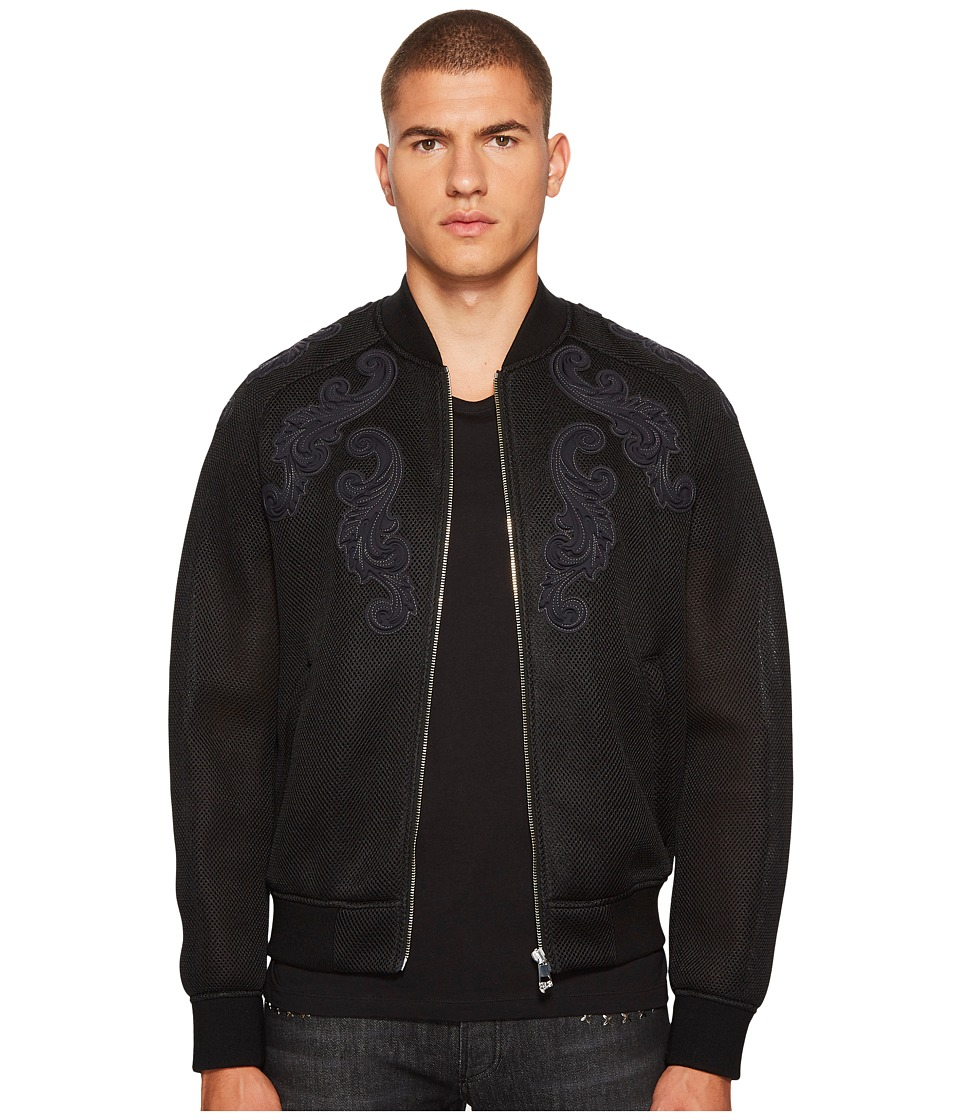 Versace Collection - Baroque Detailed Mesh Bomber Jacket