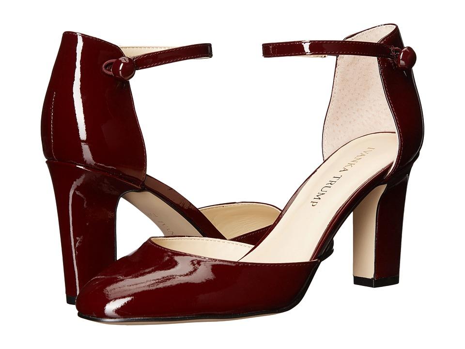 Ivanka Trump Berea (Dark Red New Patent Leather) High Heels