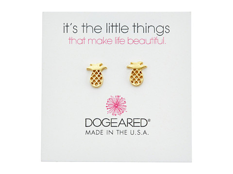 Dogeared It s The Little Things: Open Pineapple Earrings - Gold Dipped