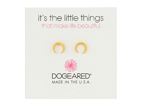 Dogeared It s The Little Things: Crescent Earrings - Gold Dipped