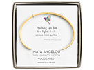 Dogeared Maya Angelou: Nothing Can Dim The Light Cuff Bracelet