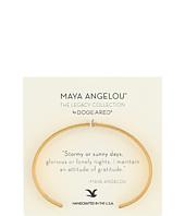 Dogeared - Maya Angelou: Attitude of Gratitude: Thin Cuff Bracelet