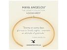 Maya Angelou: Attitude of Gratitude: Thin Cuff Bracelet